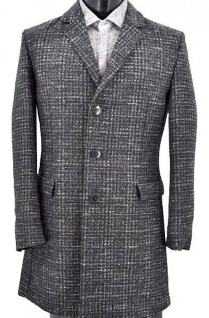 Hugo Boss Black & White 3/4 Length Slim Fit Coat #50395972-010