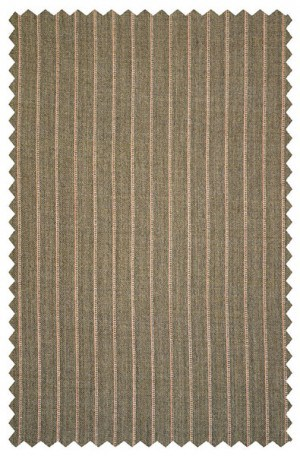 Rubin Taupe Pinstripe Gentleman's Cut Suit with Pleated Slacks 50553
