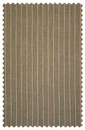 Rubin Taupe Pinstripe Gentleman's Cut Suit with Pleated Slacks #50553