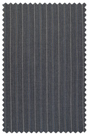 Rubin Gray Pinstripe Classic Fit Suit #50697
