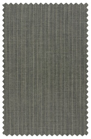 Rubin Medium Gray Pinstripe Tailored Fit Suit #50864