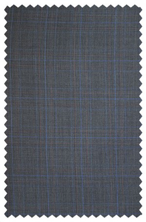 Rubin Blue Pattern Gentleman's Cut Pleated Suit #52027