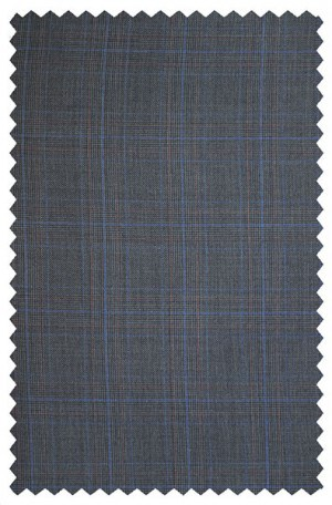 Rubin Blue Pattern Gentleman's Cut Suit 52027
