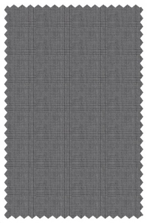 Rubin Gray Pattern Tailored Fit Suit 52144