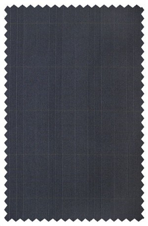Rubin Navy Windowpane Gentleman's Cut Suit 53507