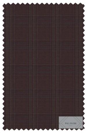 Pal Zileri Brown Pattern Tailored Fit Suit #53516-46