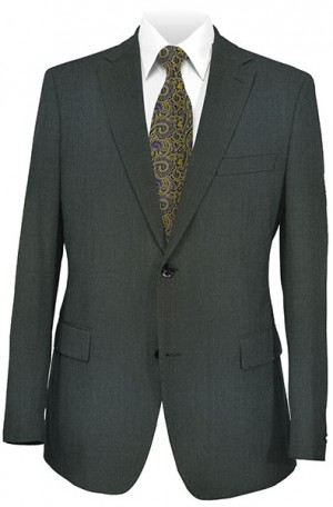 Petrocelli Charcoal Solid Color Suit 55504F