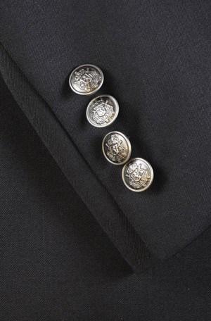 ItalUomo Black Tailored Fit Blazer #56222-1
