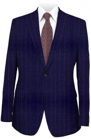 Petrocelli Navy Pinstripe Suit Separates