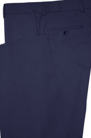 Petrocelli Navy Wool-Blend Dress Slacks