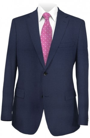 Petrocelli Navy Solid Color Suit Separates