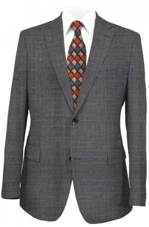 Petrocelli Medium Gray Solid Color Suit Separates