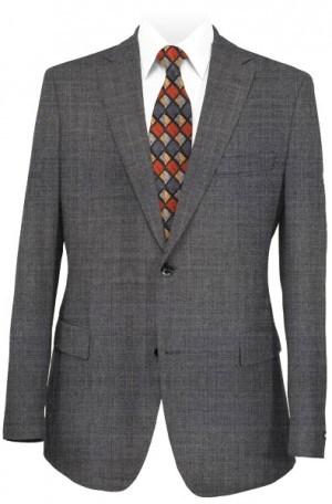 Petrocelli Medium Gray Solid Color Suit Separates