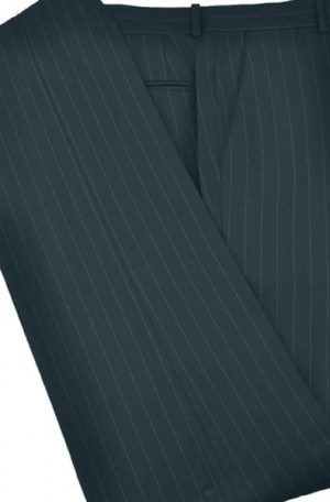 Petrocelli Charcoal Stripe Wool-Blend Dress Slacks
