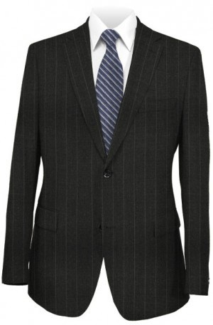 Petrocelli Dark Gray Stripe Suit Separates