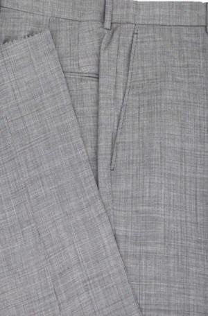 Petrocelli Black & White Micro-Check Wool-Blend Dress Slacks
