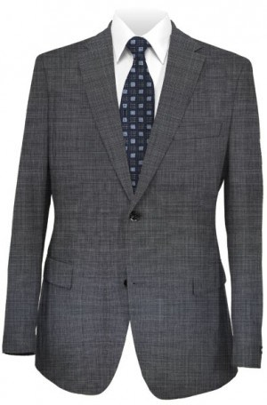 Petrocelli Black & White Micro-Check Suit Separates
