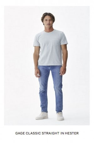 Citizens of Humanity Light Indigo Classic Straight Stretch Jeans #6107-989