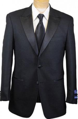 San Malone Black Shadow Stripe Tuxedo 68901.
