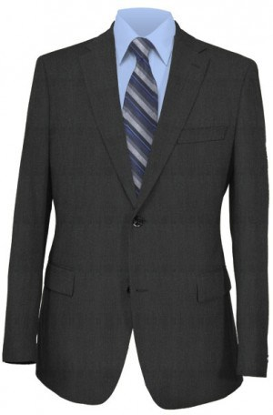 Petrocelli Charcoal Solid Color Suit Separates #69011IV