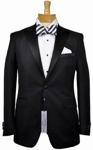 Betenly Black Slim Fit Tuxedo #6RP0001