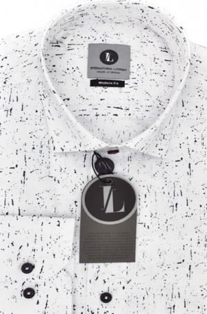 International Laundry White & Black Slim Fit Sportshirt #7577-3