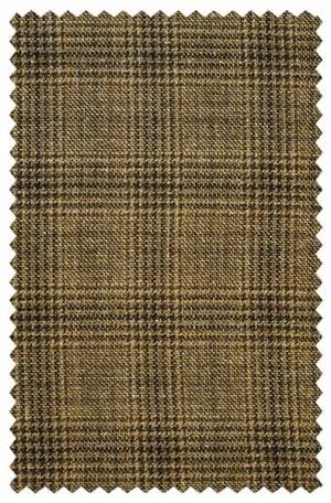 Baroni Brown Pattern Silk-Wool Sportcoat #7855-1