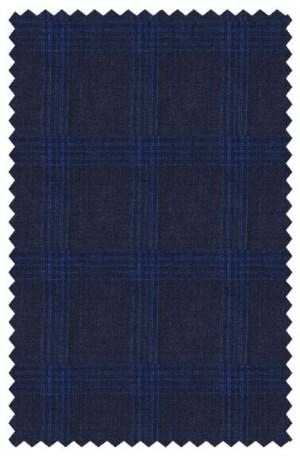 Calvin Klein Navy Pattern Linen Slim Fit Sportcoat #AYX130