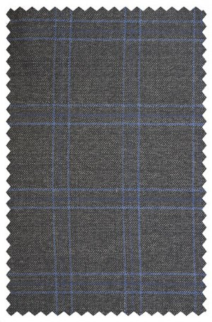 Calvin Klein Gray & Blue Windowpane Sportcoat 7JX0647.