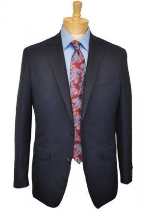 Betenly Navy Wool-Cashmere Blazer #7S0001