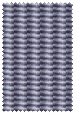 Petrocelli Blue Houndstooth Gentleman's Fit Sportcoat #80102
