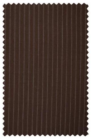 Rubin Medium Brown Stripe Classic Fit Suit #80342
