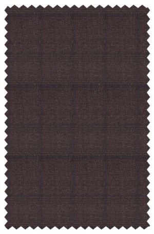 TailoRed Brown Pattern Tailored Fit Suit #81C0005