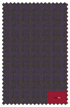 TailoRED Brown with Blue Tailored Fit Suit #82A0080