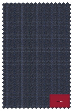 TailoRED Navy Pattern Tailored Fit Suit #83A0042