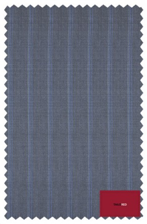"""""""Distinguished Stripes"""" Blue-Gray Striped Suit from TailoRED and Loro Piana 84A0054"""
