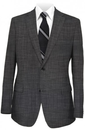 TailoRed Gray Tailored Fit Wool-Silk Suit #85A0011