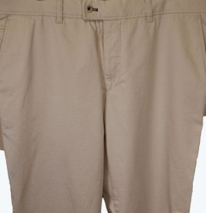 Brax Khaki Stretch Cotton Slacks #861808-56