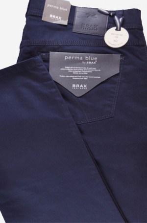"Brax ""Perma Blue"" Jeans Style Slim Fit Slacks #87-1507-21"
