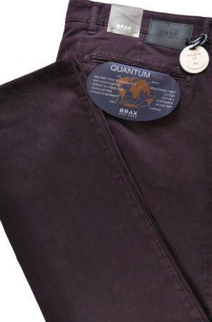 Brax Burgundy Pima Cotton Tailored Fit Slacks #87-1757-82