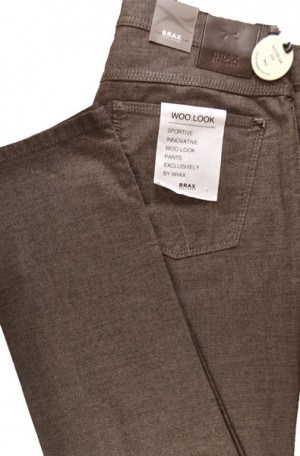 Brax Brown Textured Jeans Style Slim Fit Slacks #87-6267-56