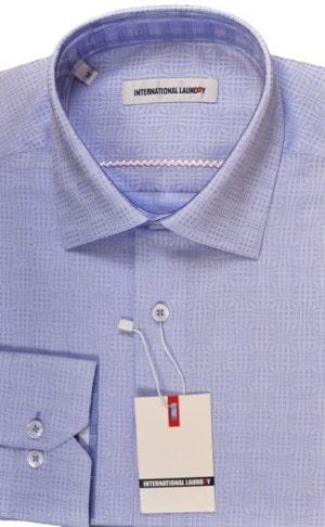 International Laundry Blue Check Sport Shirt #9001-19