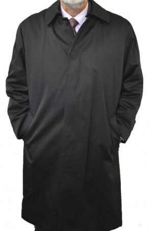 """Buster"" Black Raincoat with Zip-Out Liner #90211"