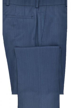 Betenly-Aristo Medium Blue Tailored Fit Flat Front Dress Slacks #902138