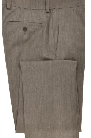 Betenly-Aristo Walnut Tailored Fit Flat Front Dress Slacks #902164