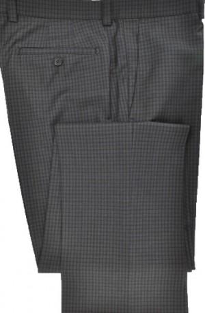 Betenly-Aristo Gray Check Tailored Fit Dress Slacks #902232
