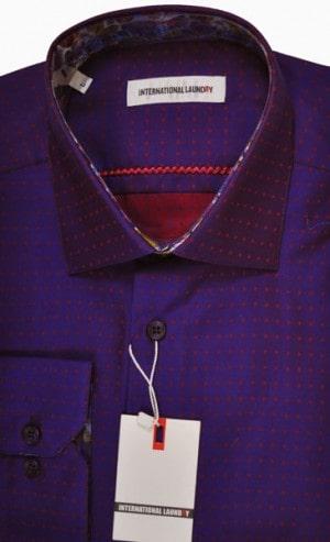 nternational Laundry Purple Sport Shirt #9032-7