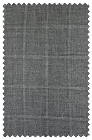 Rubin Gray Windowpane Tailored Fit Suit A00814