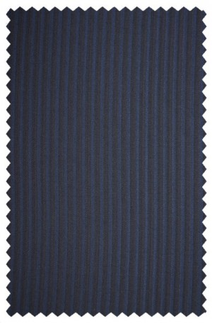 Rubin Navy Stripe Tailored Fit Suit #A00276