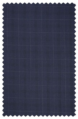 Rubin Navy Windowpane Tailored Fit Suit #A00281